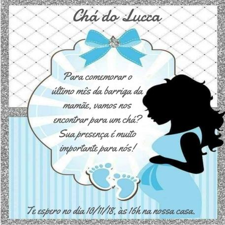 Convite chá do Lucca - opção 1